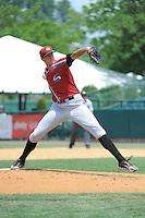 Altoona Curve pitcher John Holdzkom (5) during game against the New Britain Rock Cats  at New Britain Stadium on June 25, 2014 in New Britain, Connecticut. New Britain defeated Altoona 3-1.  (Tomasso DeRosa/Four Seam Images)