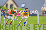 Eirin O'Connor Feale Rangers in action against Bernard Murphy Mid Kerry in the First Round of the Kerry Senior Football Championship at O'Rahilly Park Ballylongford on Sunday.