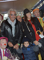 Flavio Briatore, his wife Elisabeta Gregoraci & son at the 37th Monte-Carlo Circus Festival