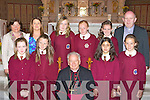 Girls from Castleisland Presentation school at their confirmation in St Stephen's and John's Church Castleisland on Wednesday.