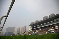 SHA TIN,HONG KONG-MAY 06: The stands and buildings from the view of inside rail at Sha Tin Racecourse on May 6,2017 in Sha Tin,New Territories,Hong Kong (Photo by Kaz Ishida/Eclipse Sportswire/Getty Images)