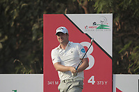 Marc Warren (SCO) in action on the 13th during Round 2 of the Hero Indian Open at the DLF Golf and Country Club on Friday 9th March 2018.<br /> Picture:  Thos Caffrey / www.golffile.ie<br /> <br /> All photo usage must carry mandatory copyright credit (&copy; Golffile | Thos Caffrey)