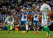30th October 2017, Cornella-El Prat, Cornella de Llobregat, Barcelona, Spain; La Liga football, Espanyol versus Real Betis; David Lopez of Espanyol shoots towards goal