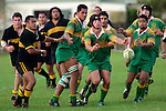 R. Johnson passing.  Counties Manukau Premier Club Rugby, Drury vs Bombay played at the Drury Domain, on the 14th of April 2006. Bombay won 34 - 13.