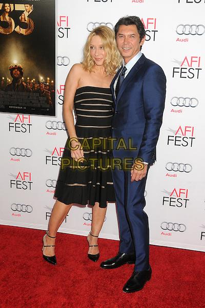 9 November 2015 - Los Angeles, California - Yvonne Boismier Phillips, Lou Diamond Phillips. AFI FEST 2015 - &quot;The 33&quot; Premiere held at the TCL Chinese Theatre. <br /> CAP/ADM/BP<br /> &copy;BP/ADM/Capital Pictures