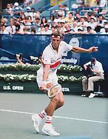 1985, New York, USA, August 29, Tennis, US Open, Huub van Boeckel (NED)  <br /> Photo: Henk Koster