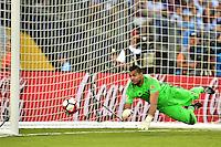 Foxborough, MA - Saturday June 18, 2016: Sergio Romero prior to a Copa America Centenario quarterfinal match between Argentina (ARG) and Venezuela (VEN)  at Gillette Stadium.