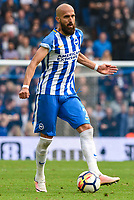 Bruno Saltor Captain of Brighton & Hove Albion (2)   during the Premier League match between Brighton and Hove Albion and Everton at the American Express Community Stadium, Brighton and Hove, England on 15 October 2017. Photo by Edward Thomas / PRiME Media Images.