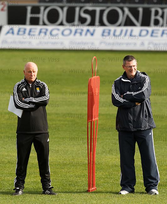 Peter Houston and Craig Levein