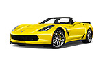 Stock pictures of low aggressive front three quarter view of 2017 Chevrolet Corvette Grand-Sport-3LT 2 Door Convertible Low Aggressive