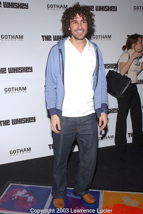 NEW YORK-JANUARY 29: Survivor contestant Ethan Zohn arrives at Gotham Magazine's 1st Anniversary Bash for The Whiskey Bar at W Hotel Times Square January 29, 2003, in New York City.