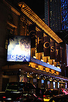 Theatre Marquee.during the Broadway Opening Night Performance Curtain Call for  'GHOST' a the Lunt-Fontanne Theater on 4/23/2012 in New York City.