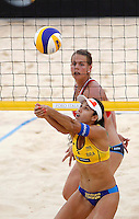 Brazil's Talita Antunes, foreground, in action against Britta Buthe at the Beach Volleyball World Tour Grand Slam, Foro Italico, Rome, 22 June 2013. Brazil defeated Germany 2-1.<br /> UPDATE IMAGES PRESS/Isabella Bonotto