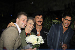 Brandon and Randy's mom Elaine with Randy Jones (Village People) and husband Will Grega celebrate their marriage (this morning September 13, 2013) with a celebration at the 13th Annual Kings & Cowboys at DL in New York City, New York. Randy is also celebrating his birthday. Also there were Randy's mom Elaine and Will's mom Marge. Actor Keith Collins was there. (Photo by Sue Coflin/Max Photos)