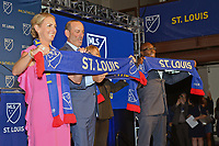 St. Louis, MO, August 20 2019. Major League Soccer (MLS) announce expansion team in St. Louis, starting 2022 season.