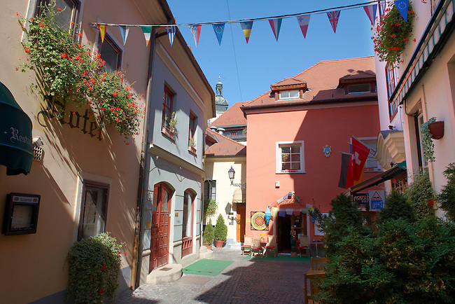 Spur Lane and the Siss Hotel Entrance - ( Gy?r )  Gyor Hungary