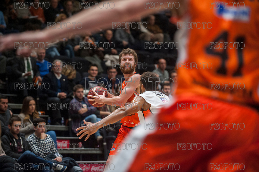 VALENCIA, SPAIN - December 2: John Shurna during EUROCUP match between Valencia Basket Club and Ratiopharm ULM at Fonteta Stadium on December 2, 2015