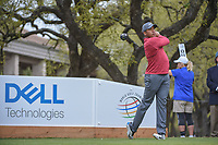 Jhonattan Vegas (VEN) watches his tee shot on 1 during day 3 of the World Golf Championships, Dell Match Play, Austin Country Club, Austin, Texas. 3/23/2018.<br /> Picture: Golffile | Ken Murray<br /> <br /> <br /> All photo usage must carry mandatory copyright credit (&copy; Golffile | Ken Murray)