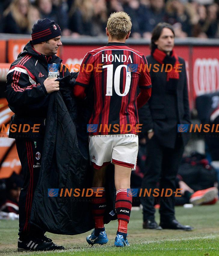 Keisuke Honda, Filippo Inzaghi Milan <br /> Milano 15-02-2015 Stadio Giuseppe Meazza - Football Calcio Serie A Milan - Empoli. Foto Giuseppe Celeste / Insidefoto