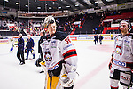 S&ouml;dert&auml;lje 2015-01-06 Ishockey Hockeyallsvenskan S&ouml;dert&auml;lje SK - Malm&ouml; Redhawks :  <br />  Malm&ouml; Redhawks m&aring;lvakt Robin Rahm ser glad ut efter matchen<br /> (Foto: Kenta J&ouml;nsson) Nyckelord:  glad gl&auml;dje lycka leende ler le jubel gl&auml;dje lycka glad happy portr&auml;tt portrait