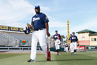 20 September 2012: Rene Leveret arrives on the field prior to Spain 8-0 win over France, at the 2012 World Baseball Classic Qualifier round, in Jupiter, Florida, USA.