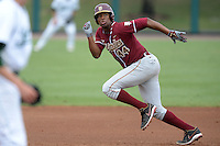 Florida State Seminoles designated hitter / relief pitcher Jameis Winston (44) runs the bases during a game against the South Florida Bulls on March 5, 2014 at Red McEwen Field in Tampa, Florida.  Florida State defeated South Florida 4-1.  (Mike Janes/Four Seam Images)