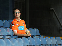 Blackpool fan<br /> <br /> Photographer Rob Newell/CameraSport<br /> <br /> The EFL Sky Bet Championship - Southend United v Blackpool - Saturday 10th August 2019 - Roots Hall - Southend<br /> <br /> World Copyright © 2019 CameraSport. All rights reserved. 43 Linden Ave. Countesthorpe. Leicester. England. LE8 5PG - Tel: +44 (0) 116 277 4147 - admin@camerasport.com - www.camerasport.com