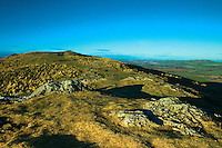 The summit and plateau of Traprain Law, East Lothian