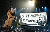 Sean Kingston the opening act for Justin Bieber The Live Concert Movie Fiming at Madison Square Garden in New York