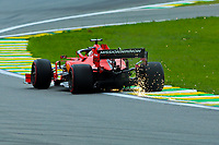 16th November 2019; Autodromo Jose Carlos Pace, Sao Paulo, Brazil; Formula One Brazil Grand Prix, Qualifying Day; Sebastian Vettel (GER) Scuderia Ferrari SF90  during P3 practise - Editorial Use