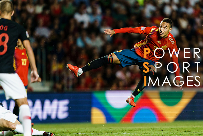 Rodrigo Machado of Spain (R) in action during their UEFA Nations League 2018-19 match between Spain and Croatia at Manuel Martínez Valero on September 11 2018 in Elche, Spain. Photo by Diego Souto / Power Sport Images