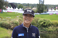 Lydia Ko (NZL) on course during Tuesday's Practice Day of The Evian Championship 2017, the final Major of the ladies season, held at Evian Resort Golf Club, Evian-les-Bains, France. 12th September 2017.<br /> Picture: Eoin Clarke | Golffile<br /> <br /> <br /> All photos usage must carry mandatory copyright credit (&copy; Golffile | Eoin Clarke)