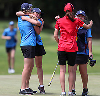 BOP celebrate. Day One of the Toro Interprovincial Women's Championship, Sherwood Golf Club, Whangarei,  New Zealand. Thursday 7 December 2017. Photo: Simon Watts/www.bwmedia.co.nz