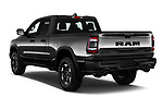 Car pictures of rear three quarter view of a 2019 Ram 1500 Rebel 4 Door Pick Up angular rear