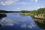 Back River in Georgetown, Maine, USA, a tidal river that separates Georgetown Island from the mainland.