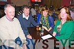 Asdee NS Quiz : Taking part in the Asdee National School fundraiing quiz at Jack J's Bar in Asdee on Saturday night last were Con Carmody, Pat & Susan Walsh & Kathleen Carmody.