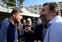 Roma, 30 Settembre 2018<br /> Carlo Calenda e Marco Damilano<br /> Piazza del Popolo<br /> Manifestazione nazionale del Partito Democratico contro il Governo