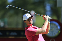 Lucas Bjerregaard (DEN) tees off the 6th tee during Saturday's Round 3 of the 2018 Omega European Masters, held at the Golf Club Crans-Sur-Sierre, Crans Montana, Switzerland. 8th September 2018.<br /> Picture: Eoin Clarke | Golffile<br /> <br /> <br /> All photos usage must carry mandatory copyright credit (&copy; Golffile | Eoin Clarke)