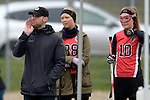 GER - Mainz, Germany, March 20: During the 1. Bundesliga Damen lacrosse match between Mainz Musketeers (white) and SC Frankfurt 1880 (red) on March 20, 2016 at Sportgelaende Dalheimer Weg in Mainz, Germany. Final score 7-12 (HT 3-5). (Photo by Dirk Markgraf / www.265-images.com) *** Local caption *** head coach Steve Laforet of SC Frankfurt 1880