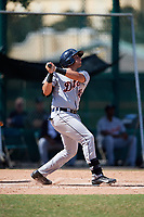Detroit Tigers Jordan Pearce (45) at bat during an Instructional League game against the Atlanta Braves on October 10, 2017 at the ESPN Wide World of Sports Complex in Orlando, Florida.  (Mike Janes/Four Seam Images)