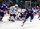 Henrich Jabornik (Slovakia - 4), Kyle Palmieri (USA - 23), Marek Ciliak (Slovakia - 1), Ivan Jankovic (Slovakia - 29) - Team USA defeated Team Slovakia 7-3 on Saturday, December 26, 2009, at the Credit Union Centre in Saskatoon, Saskatchewan during the 2010 World Juniors tournament.