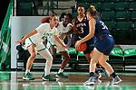 DENTON, TX - FEBRUARY 22: North Texas Mean Green Women's Basketball v University of Texas San Antonio at Super Pit - North Texas Coliseum on February 22, 2020 in Denton, Texas.