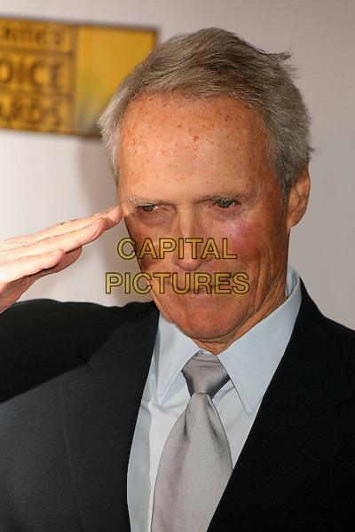 CLINT EASTWOOD.At The 12th Annual Broadcast Film Critics Choice Awards held at The Santa Monica Civic Auditorium in Santa Monica, California, LA, USA, January 12th 2007. .portrait headshot hand salute gesture.CAP/ADM/BP.©Byron Purvis/AdMedia/Capital Pictures.