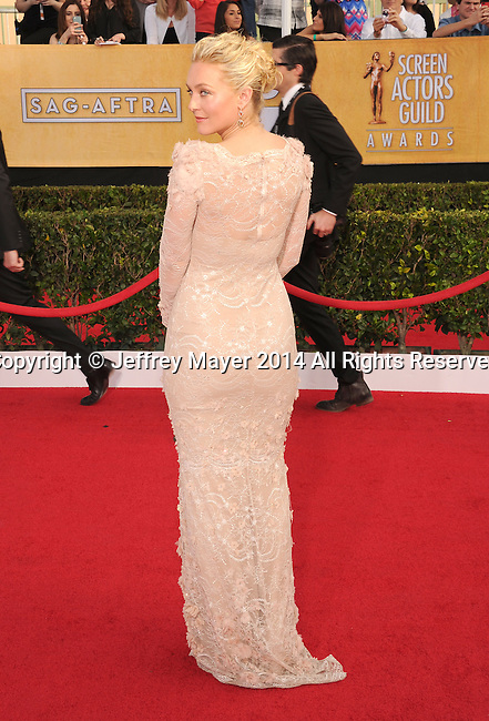 LOS ANGELES, CA- JANUARY 18: Actress Elisabeth Rohm  arrives at the 20th Annual Screen Actors Guild Awards at The Shrine Auditorium on January 18, 2014 in Los Angeles, California.