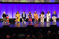 "HOLLYWOOD, CA - MARCH 23: Ryan Murphy, Janet Mock, Steven Canals, Mj Rodriguez, Billy Porter, Indya Moore, Dominique Jackson and Our Lady J. at PaleyFest 2019 for FX's ""Pose"" panel at the Dolby Theatre on March 23, 2019 in Hollywood, California. (Photo by Vince Bucci/FX/PictureGroup)"