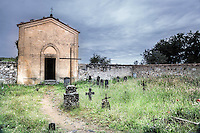 The graveyard chapel for the abbey of Sant'Anna in Camprena. (Photo by Matt Considine Travel Photographer)