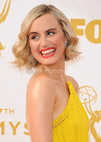 LOS ANGELES - SEPTEMBER 20:  Taylor Schilling at the 67th Annual Emmy Awards at the Microsoft Theater on September 20, 2015 in Los Angeles, California. Credit: PGSK/MediaPunch