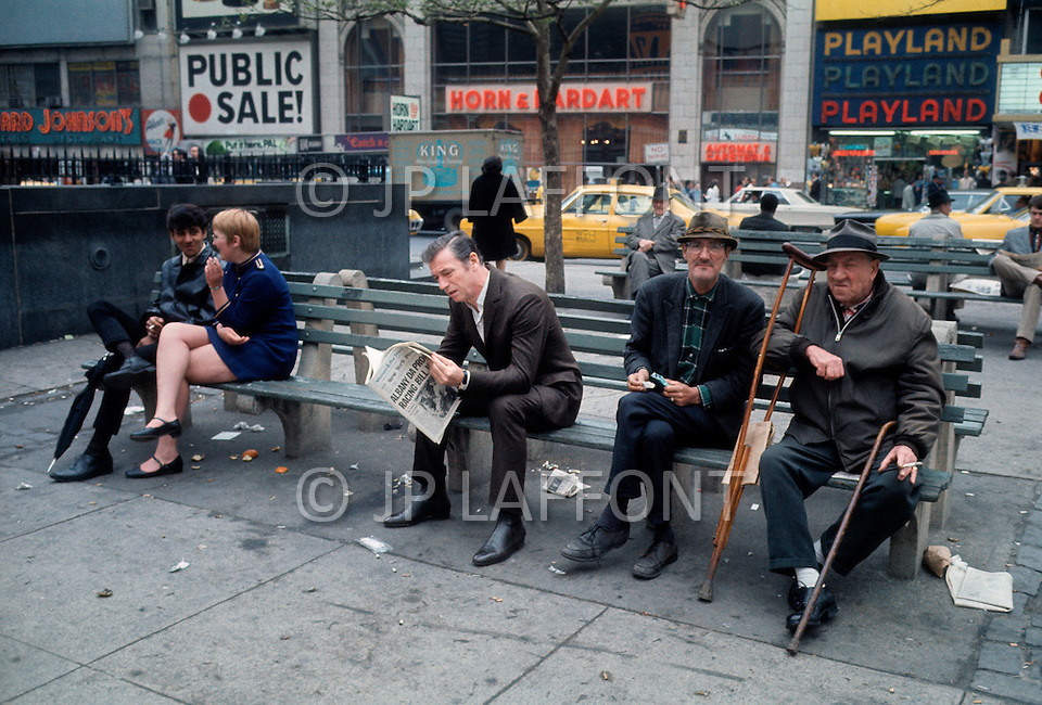 May 1969, Manhattan, New York City, New York State, USA --- Italian-born French actor and singer Yves Montand is in New York for the set of the movie On a Clear Day You Can See Forever directed by American Vincente Minnelli. --- Image by © JP Laffont