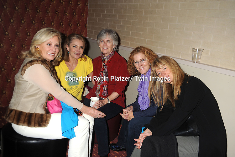 Tina Sloan, Denice Pence, Maeve Kincaid, Liz Keifer and Jill Lorie Hurst attends the Daytime Stars and Strike Charity Event benefitting The American Cancer Society on October 7, 2012 at Bowlmor Lanes in Times Square in New York City.