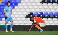 Blackpool's Sullay Kaikai reacts at the end of the game<br /> <br /> Photographer Chris Vaughan/CameraSport<br /> <br /> The EFL Sky Bet League One - Coventry City v Blackpool - Saturday 7th September 2019 - St Andrew's - Birmingham<br /> <br /> World Copyright © 2019 CameraSport. All rights reserved. 43 Linden Ave. Countesthorpe. Leicester. England. LE8 5PG - Tel: +44 (0) 116 277 4147 - admin@camerasport.com - www.camerasport.com